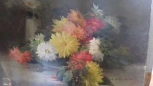 Jetée de fleurs, hst XIXème, 120 €
