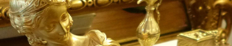 Pendule Bronze doré et Marbre