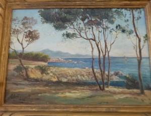 Huile sur toile, Bord de Mer, signée Commarmond, 340 €