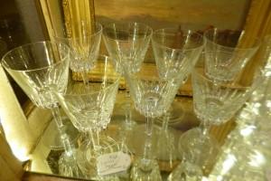 8 Verres cristal, 75 €
