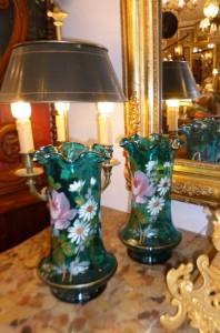 Paire de Vases en verre soufflé,120 €