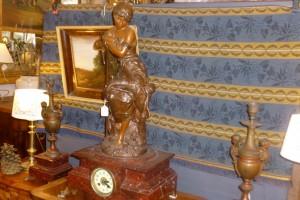 Garniture cheminée, Régule, 550 €