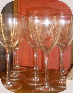 6 verres gravés