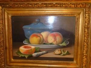 Huile sur toile, Nature morte signée G.Biher, 230 €
