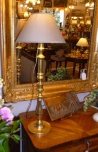 Lampe laiton haute, 85 €