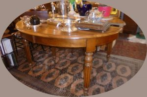 Table 6 pieds,2 rallonges, 860€