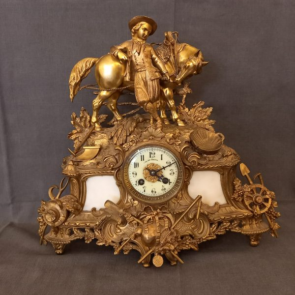 Pendule Cheval en bronze