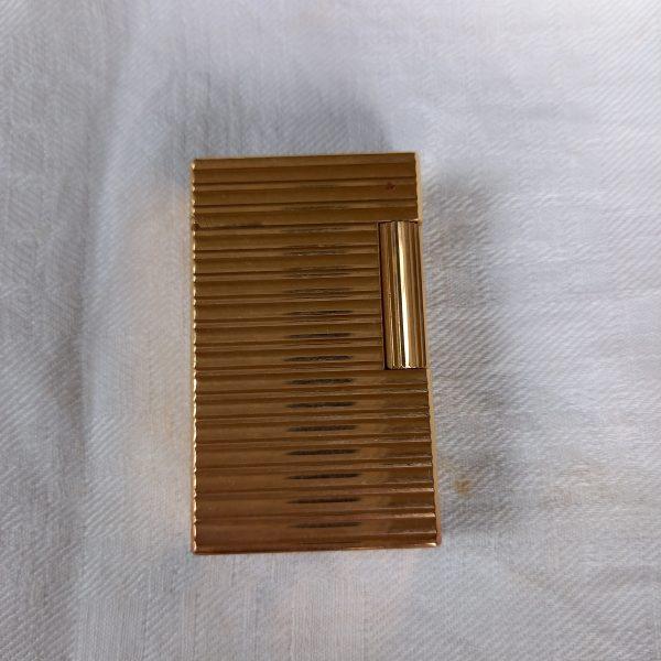 briquet dupond plaqué or