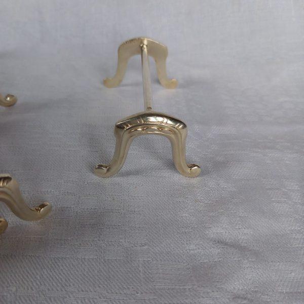 18 Porte-Couteaux en métal argenté, forme de fer à cheval 8 x 3.5 cm