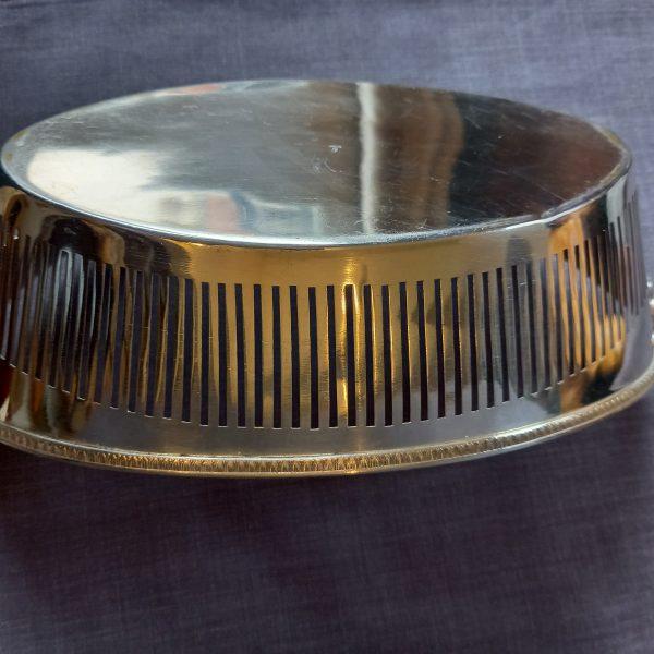 Corbeille métal argenté de style Empire avec des aigles