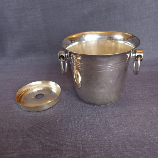 Seau glaçon métal argenté