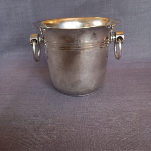 Seau à glaçons en métal argenté
