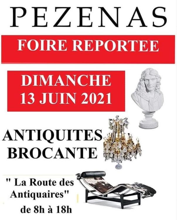 Foire Pézenas-Antiquités-Brocante à Pézenas-Brocante Juin