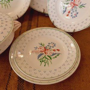Service de table, modèle Argelès, Faïence de Sarreguemines