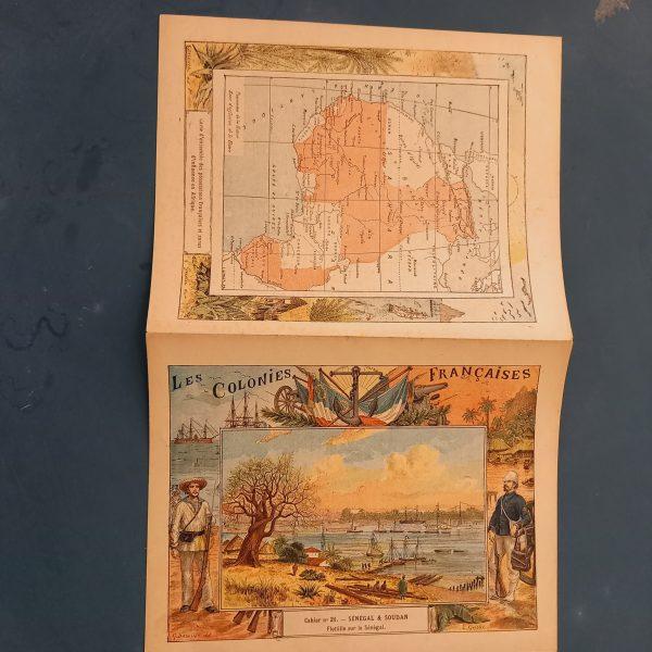 Couvertures de Cahier,Les Colonies françaises,papeterie des chapelles,vers1890