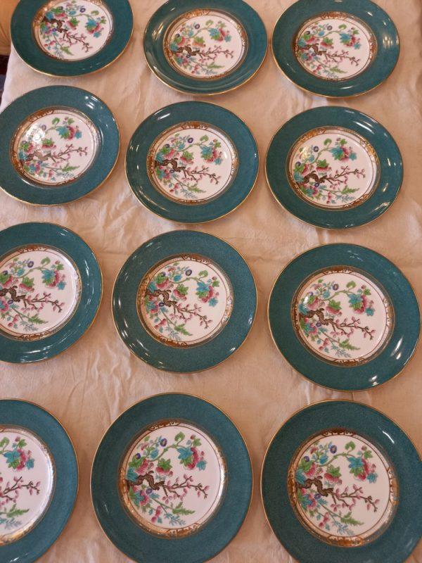 12 assiettes porcelaine royal doulton tiffany new - york, japon