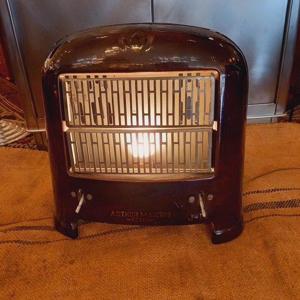 Radiateur Lampe Vintage Arthur Martin