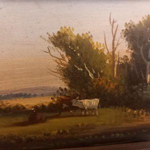 Tableau Vache , Huile sur panneau XIXè