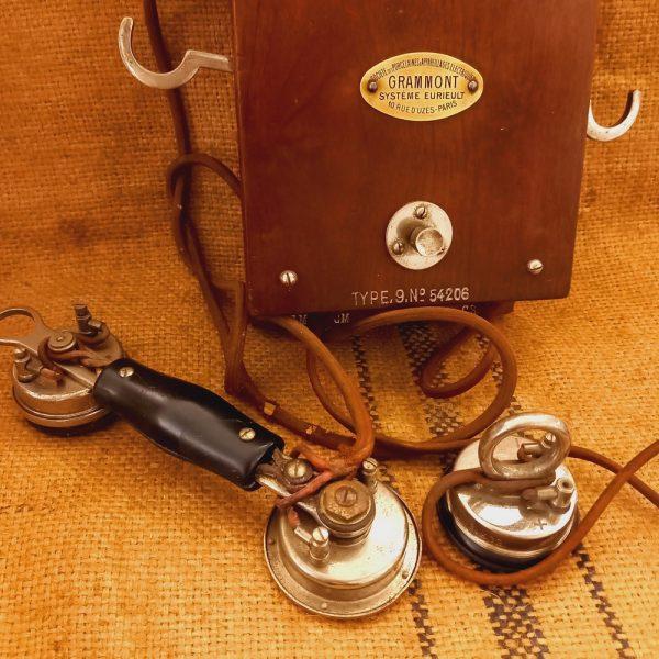 Ancien Téléphone Mural Grammont, Système Eureult