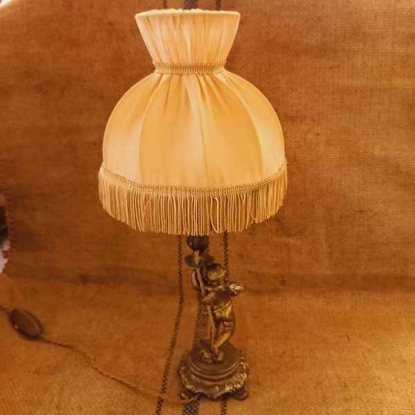 Petite Lampe Angelot en Bronze,époque 1930