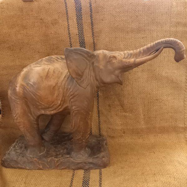 Terre Cuite éléphant 1930 par GIOVANNI (