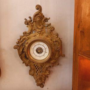 Baromètre Barigo en Bronze, Style Louis XV