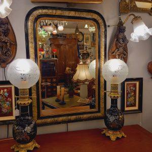 Miroir Napoléon III noir