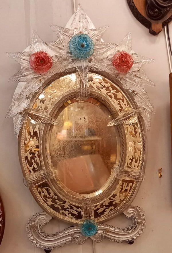 Miroir Vénitien, Verre de Murano