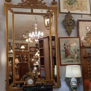 Miroir parclose, Bois doré, XIXè