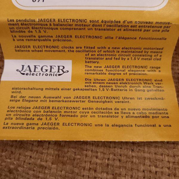 Pendulette Jaeger Electronic, Modèle Empire