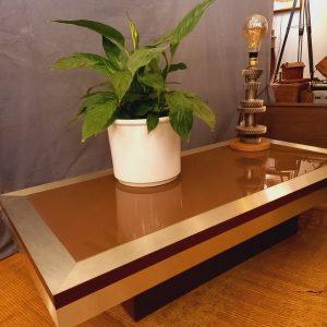 Table Basse Design en Verre fumé